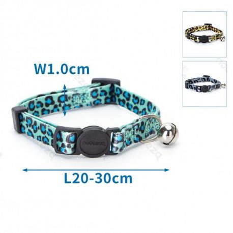 Leopardí obojok Nobleza nylón pre mačku - Safety lock Nobleza - 2