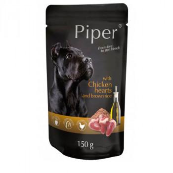 Piper Adult - Kuracie srdiečka s hnedou ryžou 150g DNP S.A. - 1
