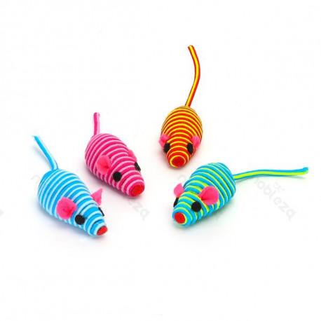Hračka pre mačku Nobleza - Set 4 farebné myšky Nobleza - 1
