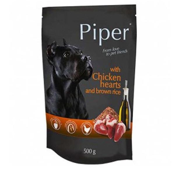 Piper Adult - Kuracie srdiečka s hnedou ryžou 500g DNP S.A. - 1