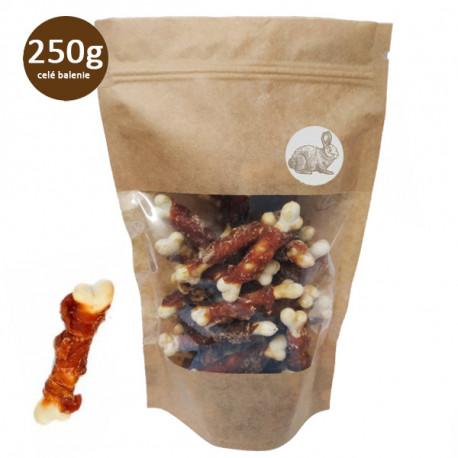 Vápniková kosť obalená králičím mäsom Fresh Farm - 1ks Fresh Farm - 1