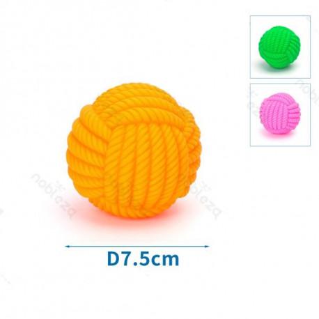 Mäkká vinylová lopta pre psa - 7,5cm Nobleza - 1