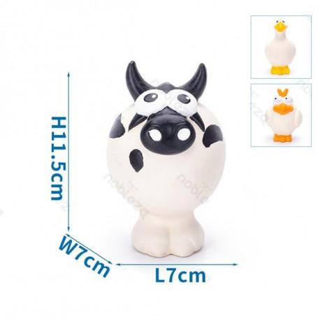 Latexové zvieratká Nobleza pre psa - krava, hus a sliepka 10,5cm Nobleza - 1
