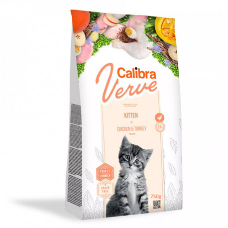 Calibra Cat Verve GF Kitten Chicken&Turkey 750g Calibra - 1