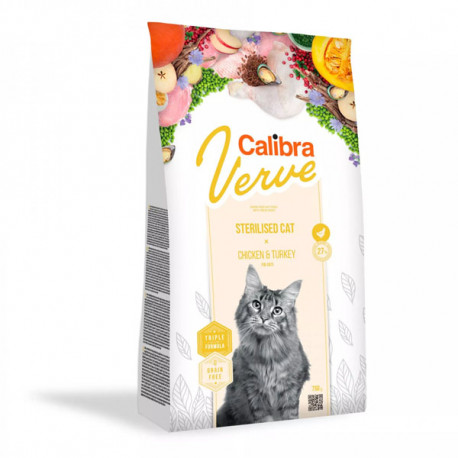 Calibra Cat Verve GF Sterilised Chicken&Turkey 750g Calibra - 1