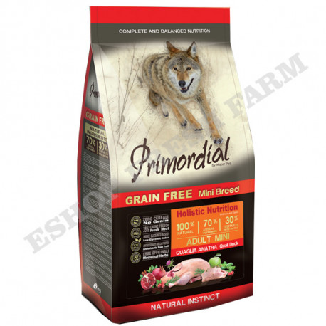 Primordial GF Adult Mini Quail & Duck 2kg MisterPet - 1