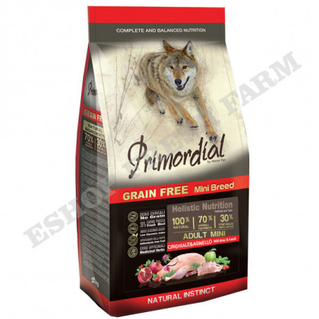 Primordial GF Adult Mini Lamb & Wild Boar 2kg MisterPet - 1