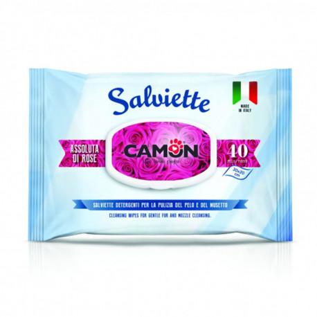 Vlhčené utierky na zvieratá Camon s vôňou ruží 40ks Camon - 1