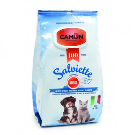 Vlhčené utierky na zvieratá Camon s vôňou Amber 100ks Camon - 1