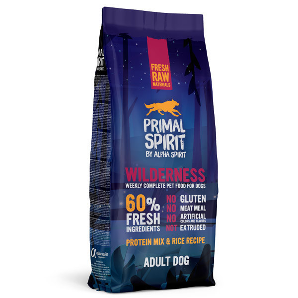 Primal Spirit 60% Wilderness 1kg Alpha Spirit - 2