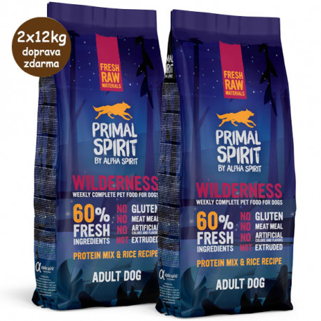Primal Spirit 60% Wilderness 1kg Alpha Spirit - 3