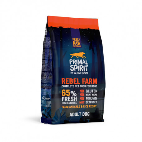 Primal Spirit Dog 65% Rebel Farm 1kg Alpha Spirit - 1