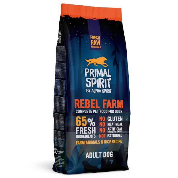 Primal Spirit Dog 65% Rebel Farm 1kg Alpha Spirit - 2