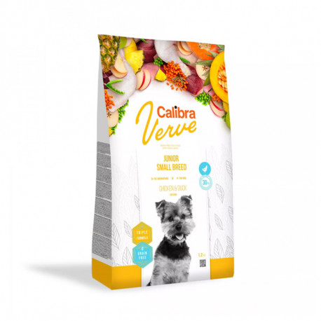 Calibra Dog Verve GF Junior Small Chicken&Duck 1,2kg Calibra - 1