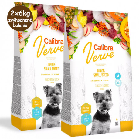 Calibra Dog Verve GF Junior Small Chicken&Duck 1,2kg Calibra - 3