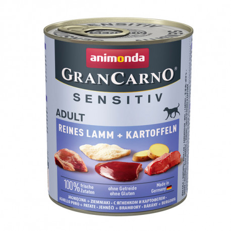 Animonda GranCarno Sensitiv Adult - Jahňacie so zemiakmi 800g Animonda - 1