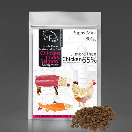Fresh Farm Puppy Mini Multiprotein - Chicken, pork & salmon 800g Fresh Farm - 1