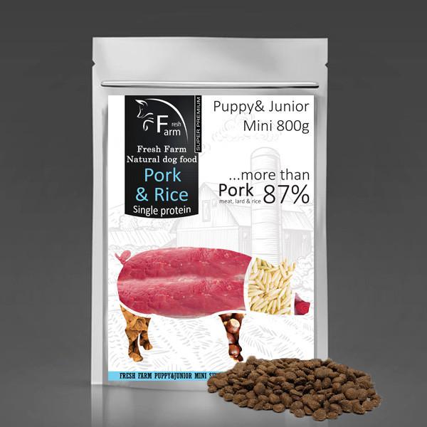 Fresh Farm Puppy&Junior Mini - Pork & Rice 800g Fresh Farm - 1