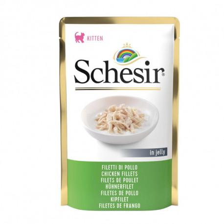 Schesir Cat Kitten kapsička - Kuracie filety 85g Agras Delic - 1