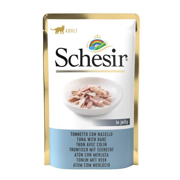 Schesir Cat kapsička - Tuniak s morskou šťukou 85g Agras Delic - 1