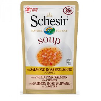 Schesir Soup - Divoký ružový losos s mrkvou 85g Agras Delic - 1