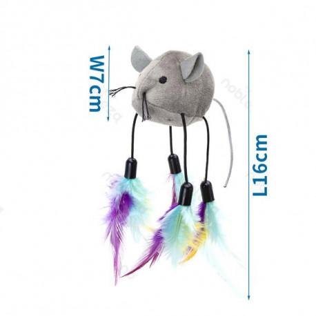 Hračka pre mačku Nobleza - motorická myška s pierkami Nobleza - 1