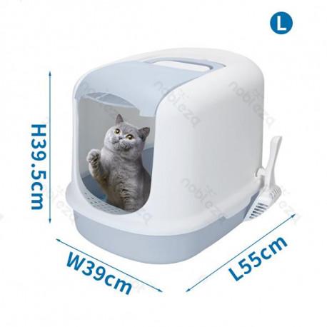 Krytá toaleta pre mačky Nobleza L - modrá Nobleza - 1