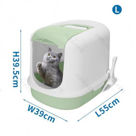 copy of Krytá toaleta s výsuvným dnom pre mačky Nobleza - šedá Nobleza - 1