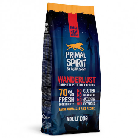 Primal Spirit Dog 70% Wanderlust 1kg Alpha Spirit - 2