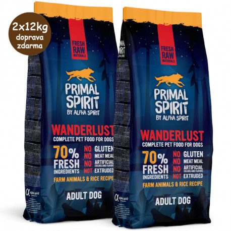 Primal Spirit Dog 70% Wanderlust 1kg Alpha Spirit - 3