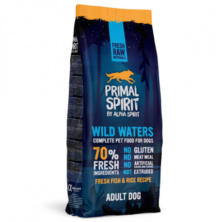 Primal Spirit Dog 70% Wild Waters 1kg Alpha Spirit - 2