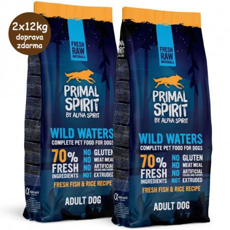Primal Spirit Dog 70% Wild Waters 1kg Alpha Spirit - 3