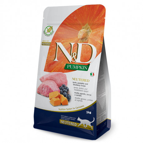 Farmina N&D Cat Pumpkin GF Adult Neutered Lamb & Blueberry 300g Farmina N&D - 3