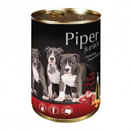 Piper Dog Junior - Hovädzie srdcia a mrkva 400g DNP S.A. - 1