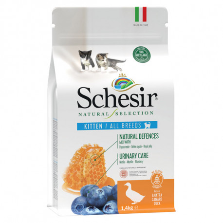 Schesir Cat Natural Selection Kitten No Grain Duck & Blueberry 350g Agras Delic - 2