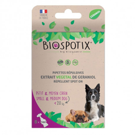 Biogance Biospotix Dog spot-on pipety S-M 5x1ml  - 1