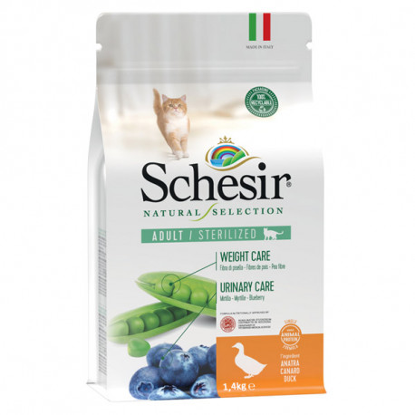 Schesir Cat Natural Selection Sterilized Single Protein Duck & Blueberry 350g Agras Delic - 2