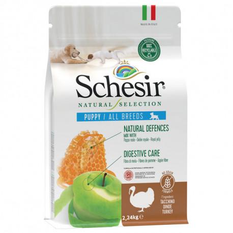 Schesir Dog Natural Selection Puppy No Grain Turkey & Apple 490g Agras Delic - 2