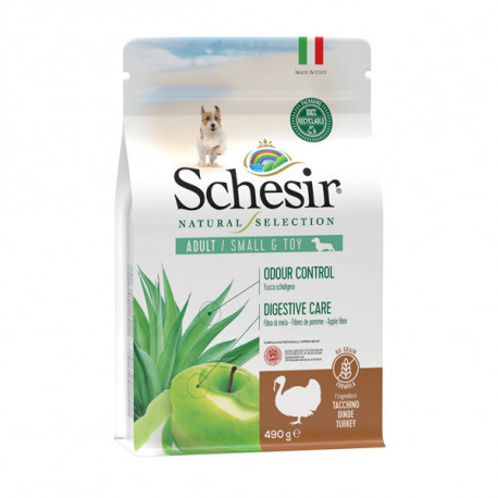 Schesir Dog Natural Selection Adult Small No Grain Turkey & Apple 490g Agras Delic - 1