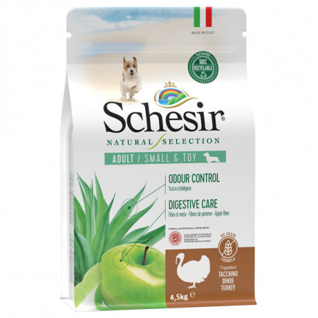 Schesir Dog Natural Selection Adult Small No Grain Turkey & Apple 490g Agras Delic - 3