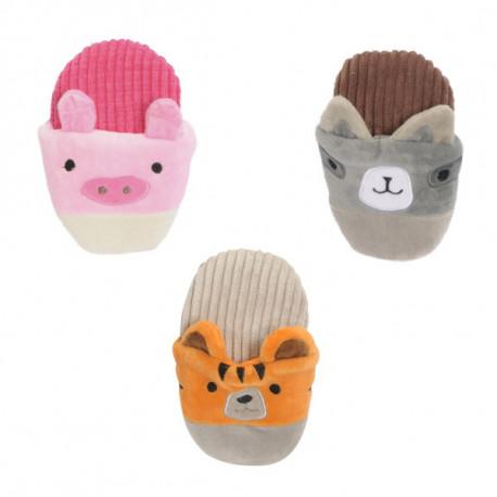 Plyšová hračka Camon pre psa - papuča so zvieratkom 14cm Camon - 1