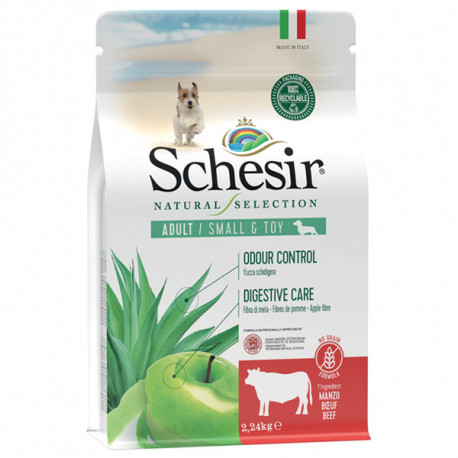 Schesir Dog Natural Selection Adult Small No Grain Beef & Apple 490g Agras Delic - 2