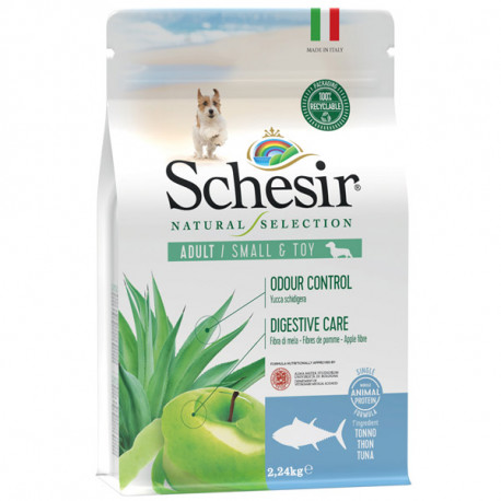 Schesir Dog Natural Selection Adult Small No Grain Tuna & Apple 490g Agras Delic - 2