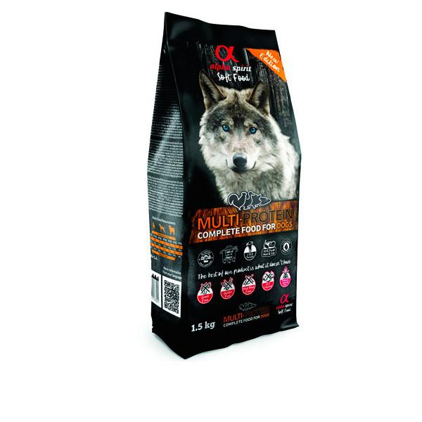 Alpha Spirit Complete Soft Dog Food - Multiprotein 1,5kg Alpha Spirit - 3