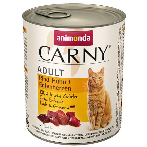 copy of Carny Adult - Hovädzie, kura a kačacie srdcia 200g Animonda - 1