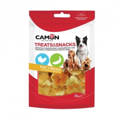 Camon Treats&Snacks Dog - Kúsky kura s banánom 80g Camon - 1