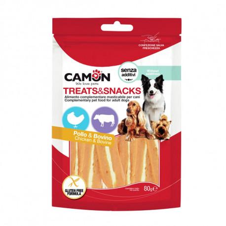 Camon Treats&Snacks Dog - Steaky kuracie s hovädzou kožou  80g Camon - 1