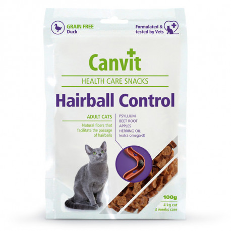 Canvit Cat Hairball Control Snacks 100g Calibra - 1