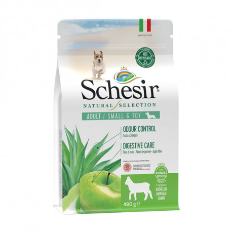 Schesir Dog Natural Selection Adult Small Single Protein Lamb & Apple 490g Agras Delic - 1