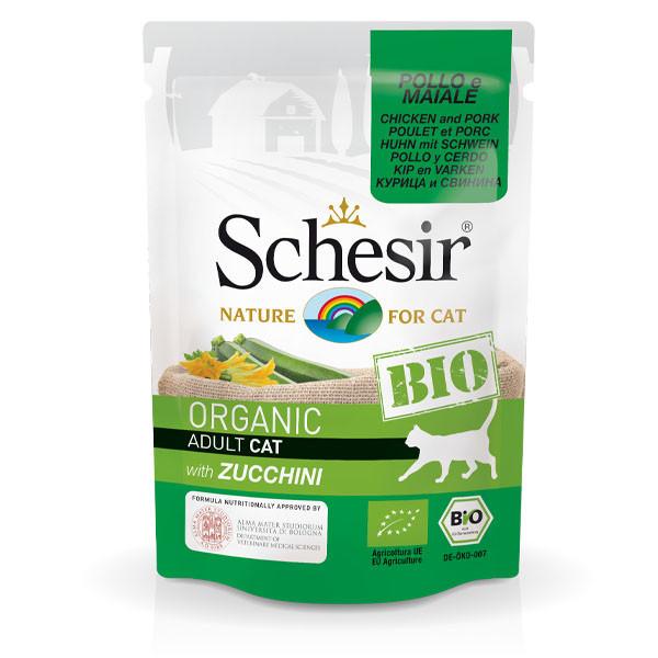Schesir Bio - Kuracie a bravčové s cuketou 85g Agras Delic - 1